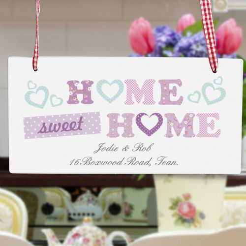 Personalised Floral Design Home Sign